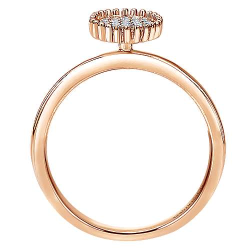 14k Rose Gold Bujukan Fashion Ladies' Ring angle 2