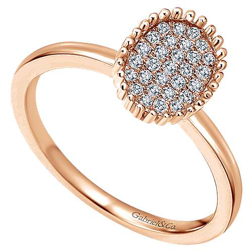 14k Rose Gold Bujukan Fashion Ladies' Ring angle 3