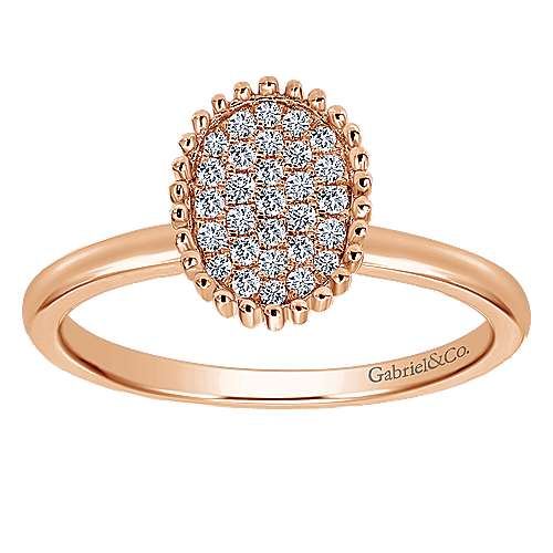 14k Rose Gold Bujukan Fashion Ladies' Ring angle 4