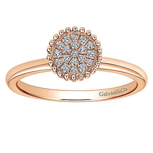 14k Rose Gold Bujukan Fashion Ladies' Ring angle 4
