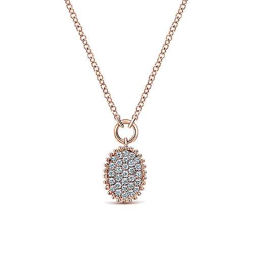 14k Rose Gold Bujukan Fashion Necklace angle 1