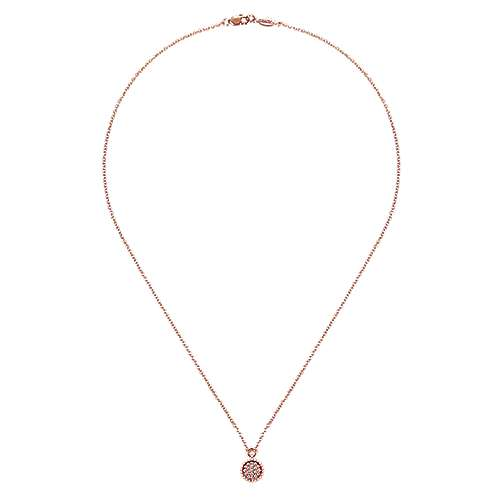 14k Rose Gold Bujukan Fashion Necklace angle 2