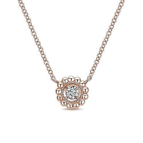 14k Rose Gold Bujukan Fashion Necklace angle 1
