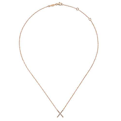 14k Rose Gold Care Collection Fashion Necklace angle 2