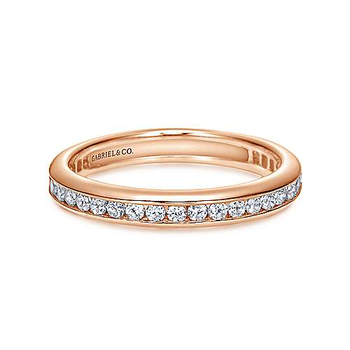 Gabriel - 14k Rose Gold Channel Set Eternity Band