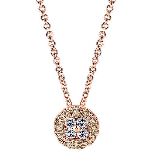 14k Rose Gold Cocoa Fashion Necklace