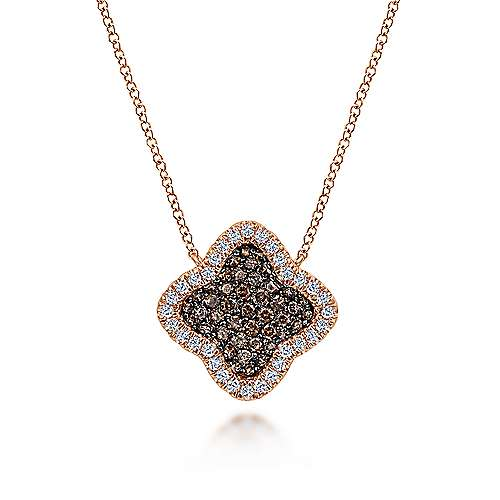 14k Rose Gold Cocoa Fashion Necklace angle 1