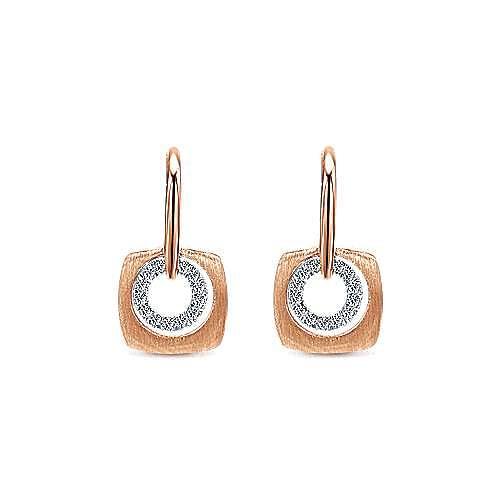 Gabriel - 14k Rose Gold Contemporary Drop Earrings