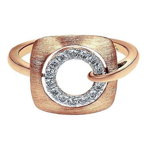 Gabriel - 14k Rose Gold Contemporary Fashion Ladies' Ring