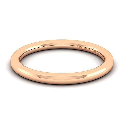 Gabriel - 14k Rose Gold Contemporary Straight Wedding Band