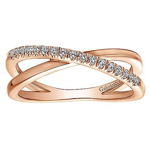 14k Rose Gold Contemporary Wide Band Ladies' Ring angle 4