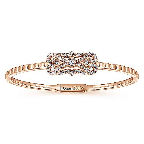 14k Rose Gold Demure Bangle