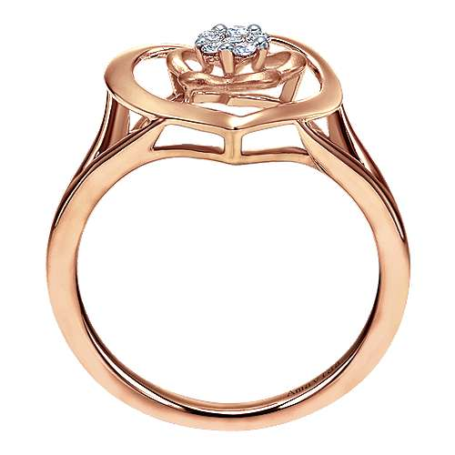 14k Rose Gold Eternal Love Fashion Ladies' Ring angle 2