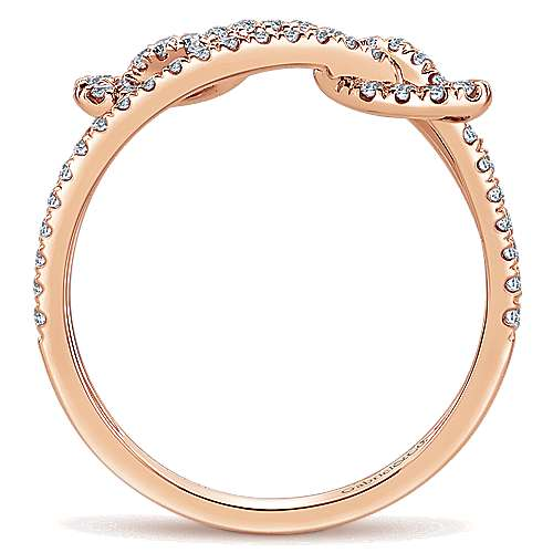 14k Rose Gold Eternal Love Fashion Ladies' Ring angle 2