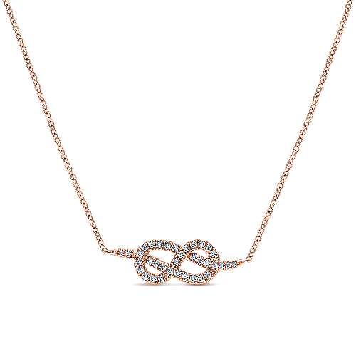 Gabriel - 14k Rose Gold Eternal Love Fashion Necklace
