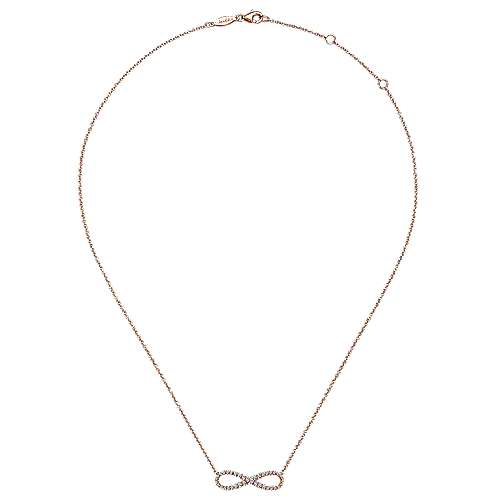 14k Rose Gold Eternal Love Fashion Necklace angle 2
