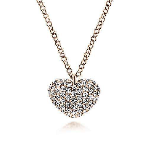 Gabriel - 14k Rose Gold Eternal Love Heart Necklace
