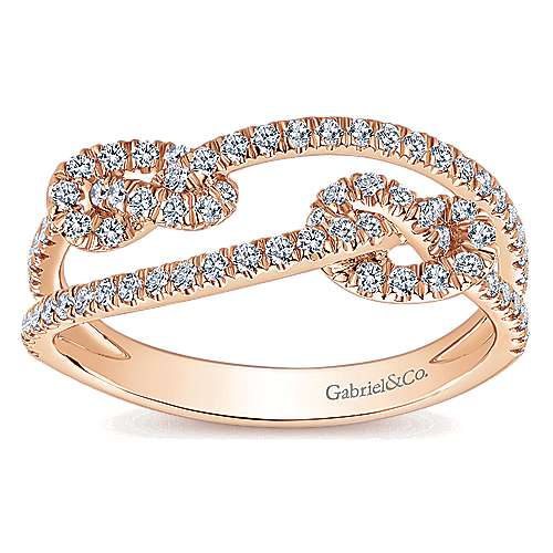 14k Rose Gold Eternal Love Twisted Ladies' Ring angle 4