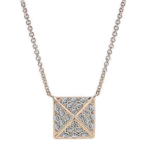 Gabriel - 14k Rose Gold Fierce Fashion Necklace