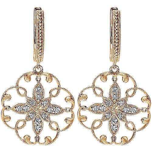 Gabriel - 14k Rose Gold Flirtation Drop Earrings