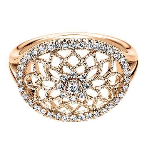 Gabriel - 14k Rose Gold Flirtation Fashion Ladies' Ring