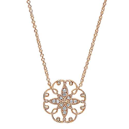 Gabriel - 14k Rose Gold Flirtation Fashion Necklace