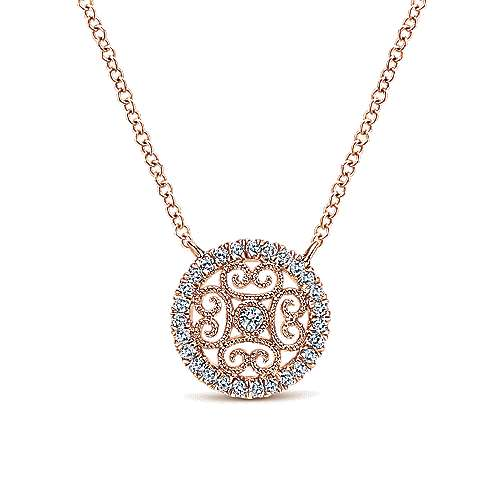 14k Rose Gold Flirtation Fashion Necklace angle 1