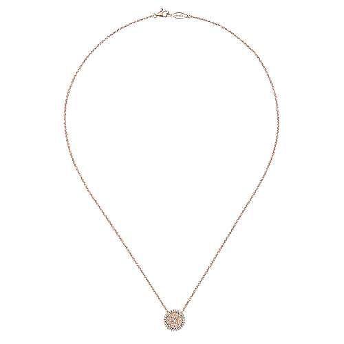 14k Rose Gold Flirtation Fashion Necklace angle 2