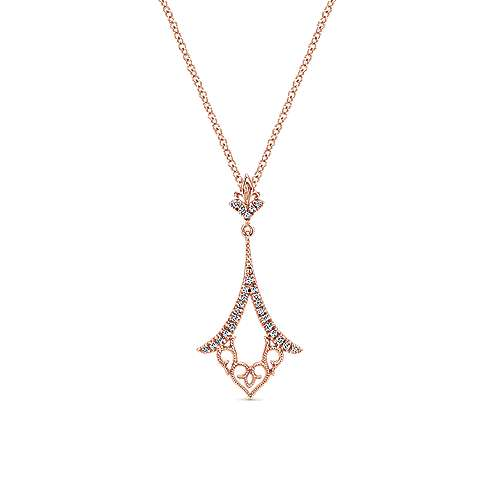 Gabriel - 14k Rose Gold Flirtation Fashion Necklace