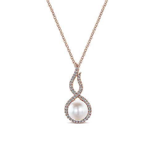 Gabriel - 14k Rose Gold Grace Fashion Necklace