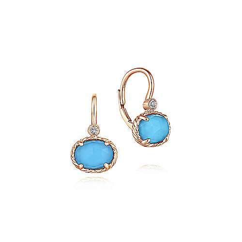 Gabriel - 14k Rose Gold Hampton Drop Earrings