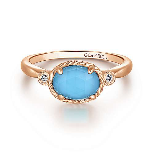 Gabriel - 14k Rose Gold Hampton Fashion Ladies Ring