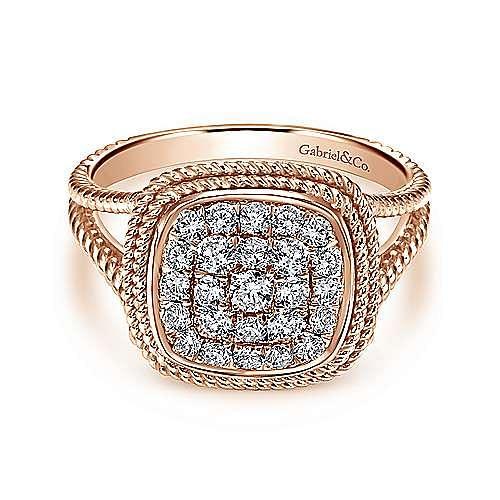 Gabriel - 14k Rose Gold Hampton Fashion Ladies' Ring