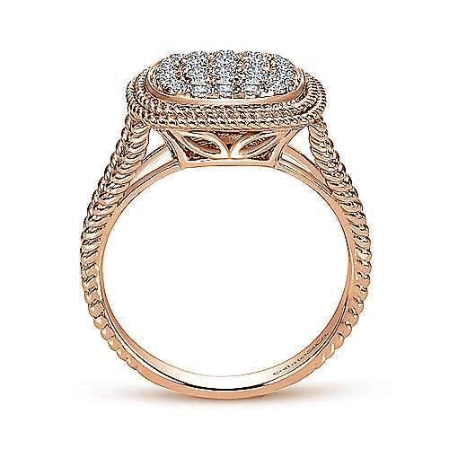 14k Rose Gold Hampton Fashion Ladies' Ring angle 2