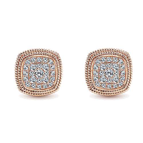 Gabriel - 14k Rose Gold Hampton Stud Earrings