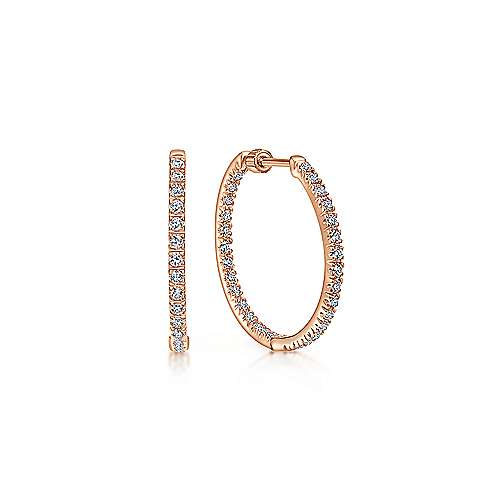 Gabriel - 14k Rose Gold Hoops Classic Hoop Earrings