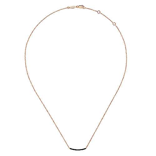 14k Rose Gold Indulgence Bar Necklace angle 2