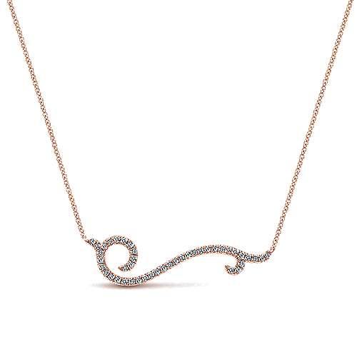 Gabriel - 14k Rose Gold Indulgence Bar Necklace
