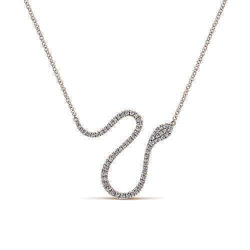 14k Rose Gold Indulgence Bar Necklace angle 1