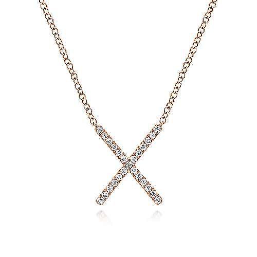 14k Rose Gold Indulgence Fashion Necklace angle 1