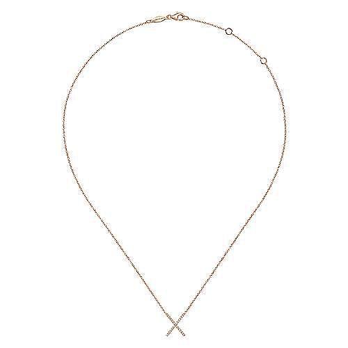 14k Rose Gold Indulgence Fashion Necklace angle 2