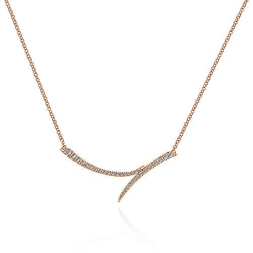 Gabriel - 14k Rose Gold Kaslique Bar Necklace