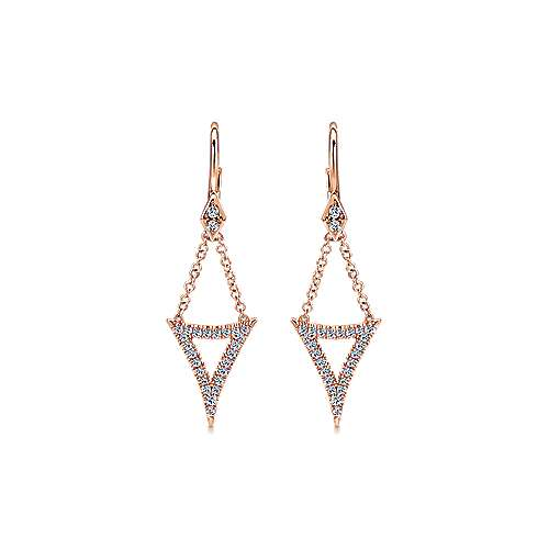 14k Rose Gold Kaslique Drop Earrings angle 1