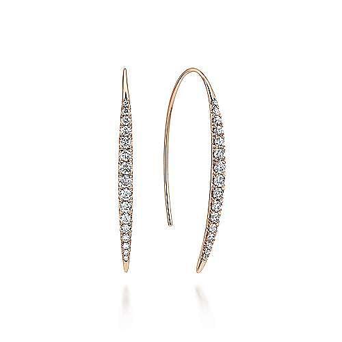 14k Rose Gold Kaslique Drop Earrings angle 1