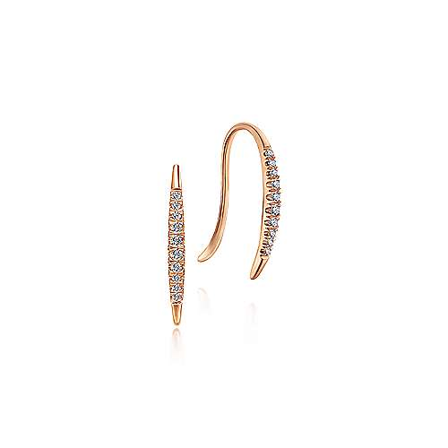 14k Rose Gold Kaslique Ear Climber Earrings