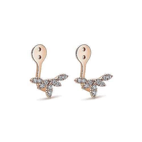 14k Rose Gold Kaslique Enhancer Earrings