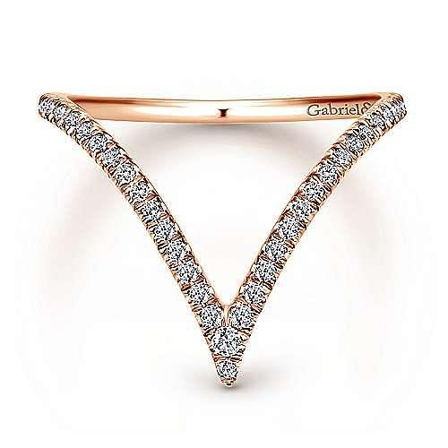 Gabriel - 14k Rose Gold Kaslique Fashion Ladies' Ring