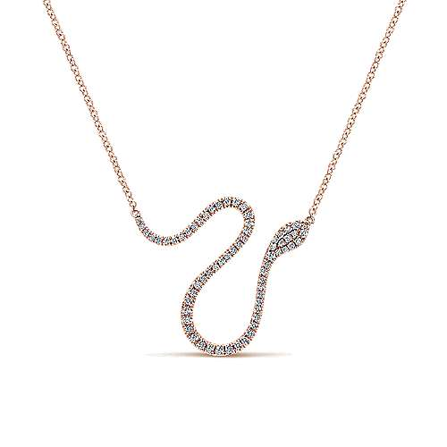 14k Rose Gold Kaslique Fashion Necklace