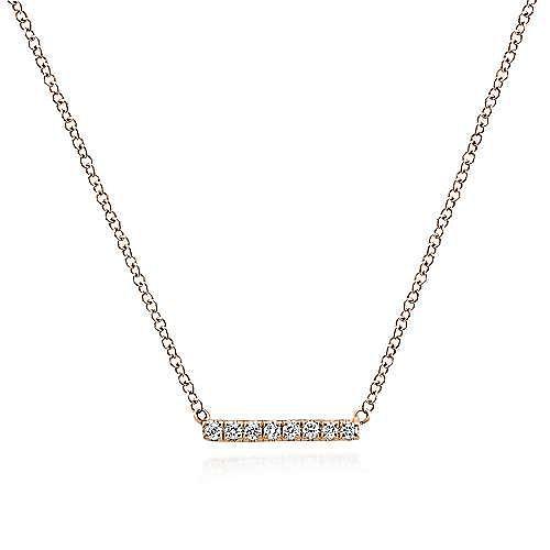 Gabriel - 14k Rose Gold Lusso Bar Necklace