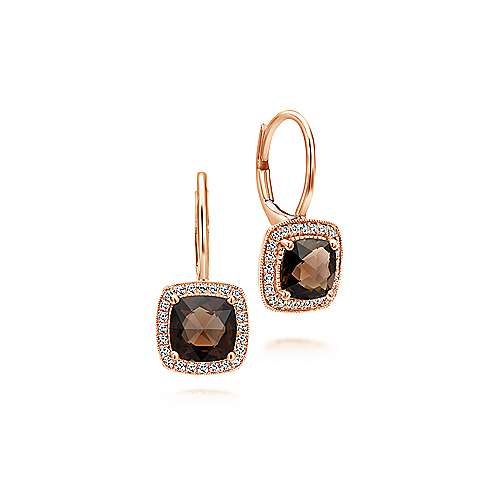 14k Rose Gold Lusso Color Drop Earrings angle 1
